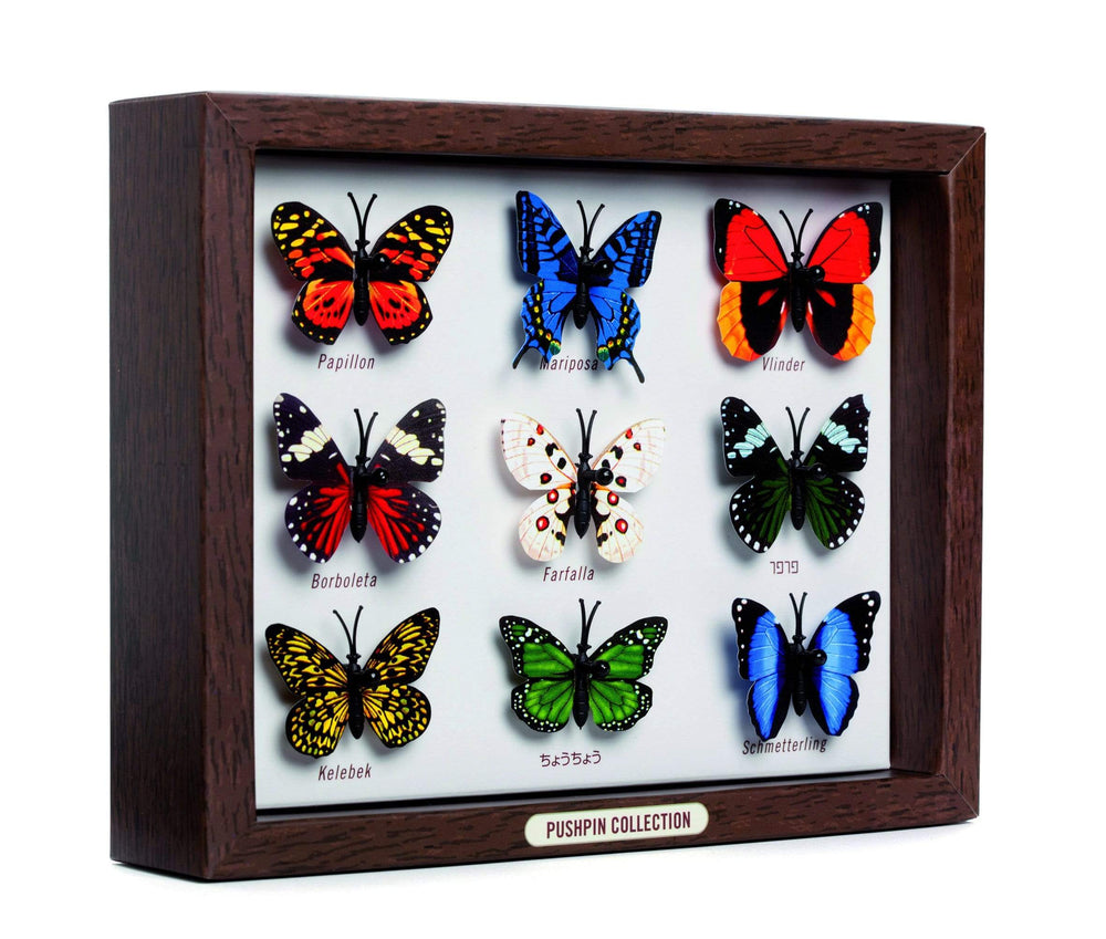 Monkey Business BUTTERFLY COLLECTION-Set di 9 puntine STATIONARY