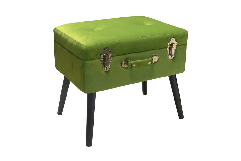 Pusher Store BAULETTO - Pouf Verde / Velluto