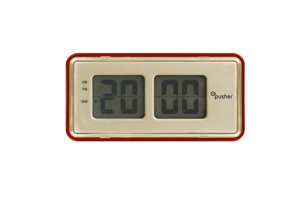Pusher Store FLIP CLOCK ROSSO