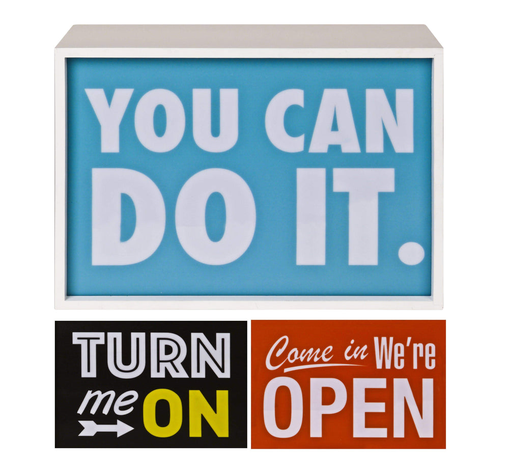 Pusher Store LIGHT BOX Turn Me-Com'in-You Can Do It