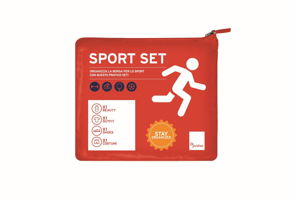 Pusher Store TRAVEL SET SPORT Rosso