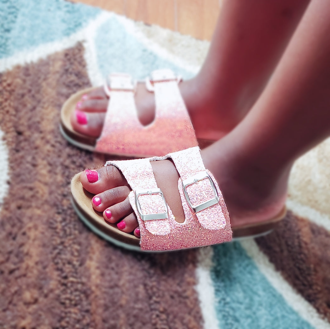 Pink Chelly Slides
