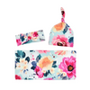 3-piece Floral Printed Baby Photographic Clothing & Hat & Headband