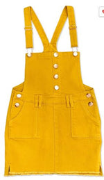 Load image into Gallery viewer, Sandy's  Overall Skirt- Mustard Yellow
