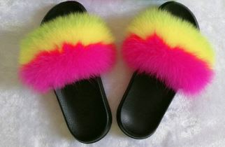 Sydney Furry Slides - Kiley Bee Children's Boutique