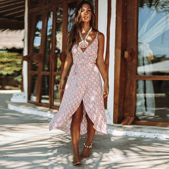 Summer Floral Print Women Dresses