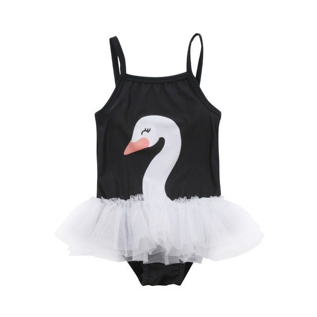Swan Toddler Kids Baby Girl Swim Swimwear