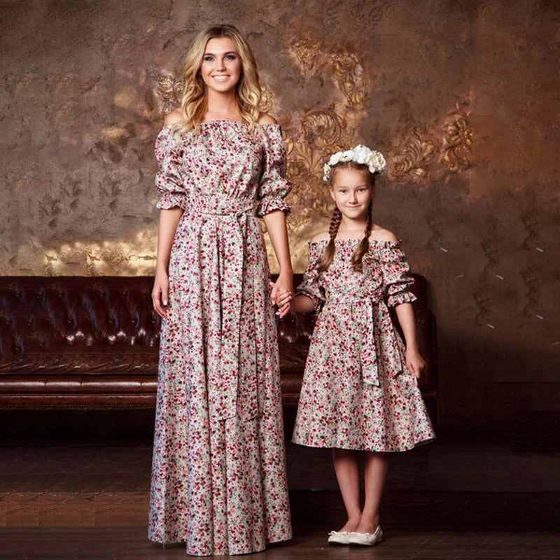 Summer Family Floral Matching Dress