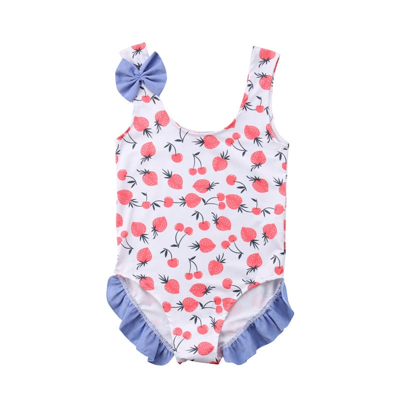 2019 Summer Kids Baby Girl Strawberry Swimsuit Swimwear One-piece Bikini Bathing Suit Beachwear