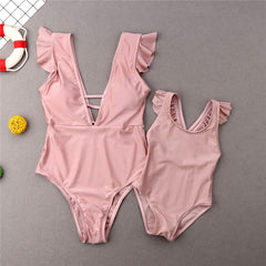 Family Matching Outfit Mother Daughter Bikini Set Summer