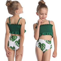 2-14 Years Girl Swimsuit Kids Two Piece