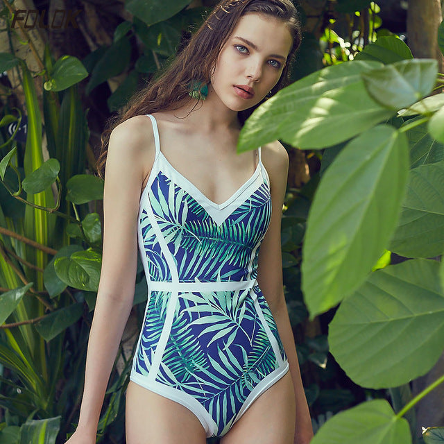 Floral Print Swimwear Women Bathing Suit Retro