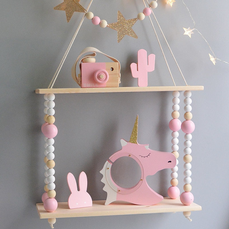 Kids Room Decoration Wooden Shelf For Kids
