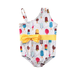1-5Y Toddler Baby Kid Girls Swimsuit Cartoon Ice cream Watermelon