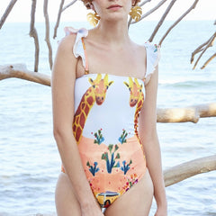 2020 Print Swimwear Women One Piece