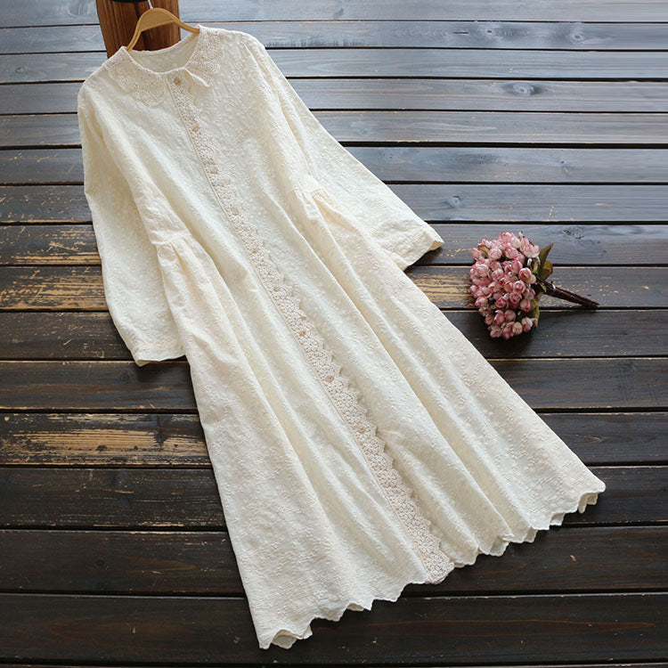 Casual Midi Dress Solid Color