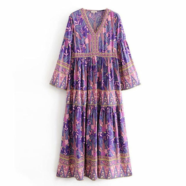 Gypsy Dress Wome Floral Print
