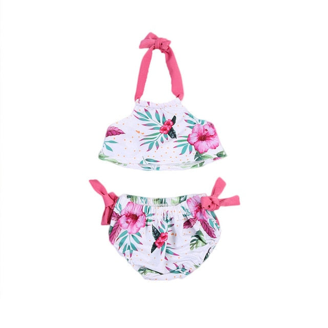 Lovely Children's Flower Bowknot Swimsuit