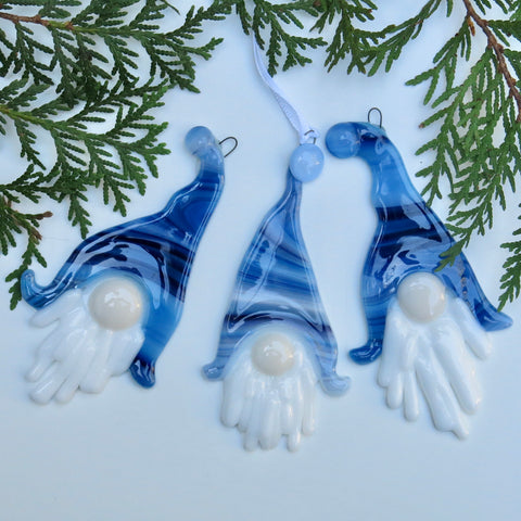 Blue Gnome Ornament