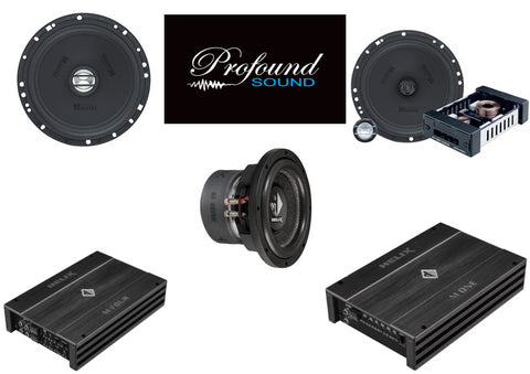 "German Maestro/Helix System Package - 6.5"" Component and Coaxial Speakers, 10"" Subwoofer, Monoblock and 4 Channel"