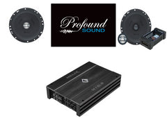 "German Maestro/Helix System Package - 6.5"" Component and Coaxial Speakers, Small Footprint 4 Channel"