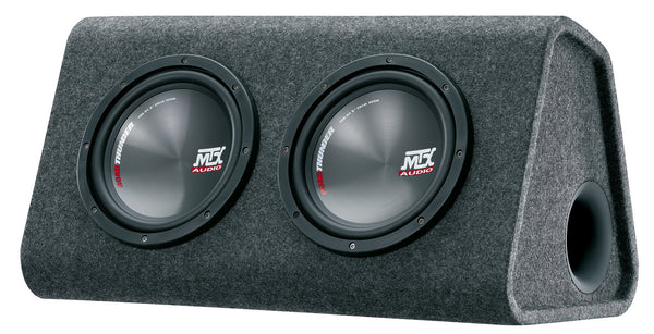 "MTX RTP8X2 - Dual 8"" 720W Active Subwoofer/Amplifier Package"