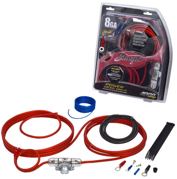 Stinger USA 4000 Series 8 Gauge OFC Power Wire Kit