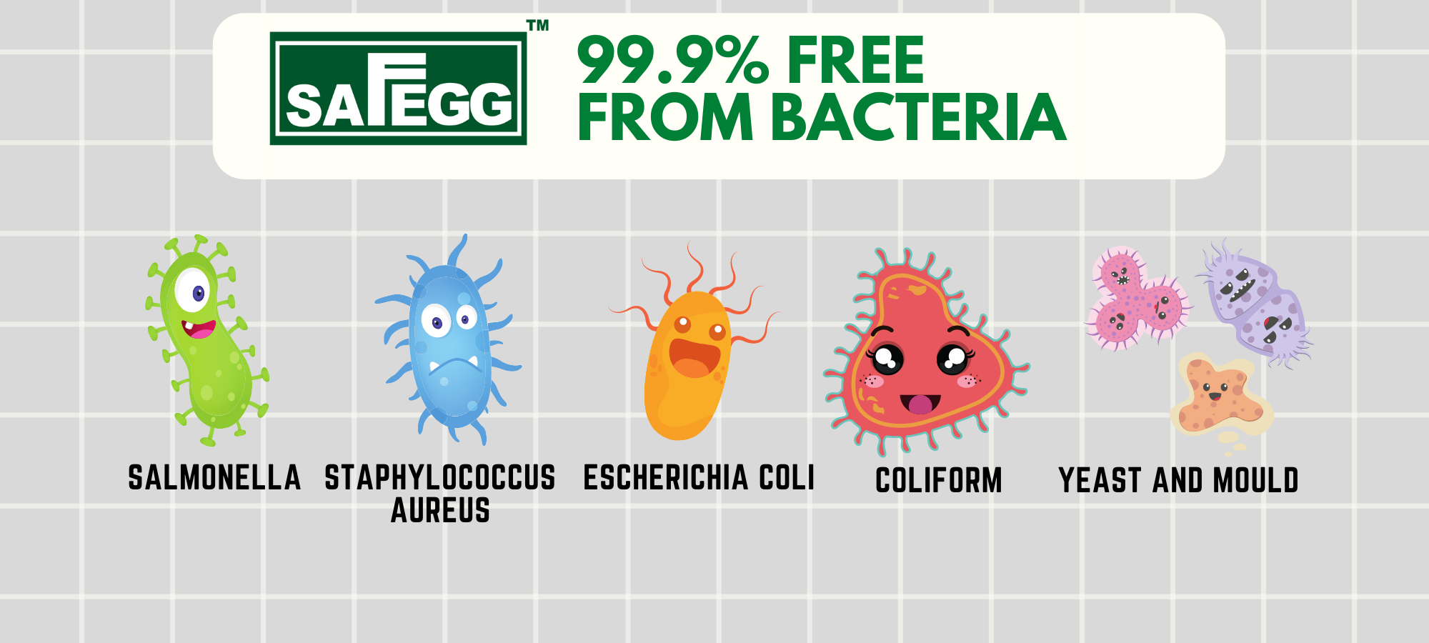 Safegg 99.9% Free from Bacteria