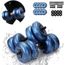 2 Fit Quick® Heavy 8-25 KG Water Dumbells