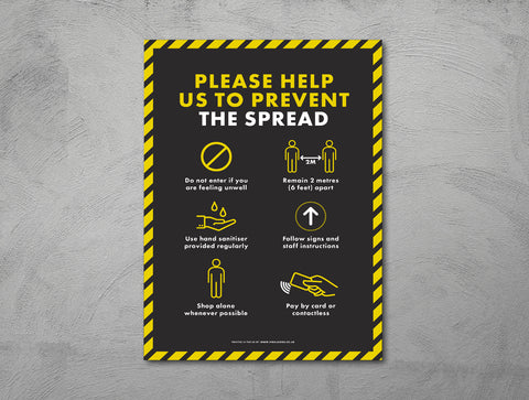 Posters - Please Help Us Prevent The Spread