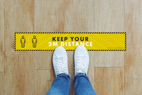 Small Strips Floor Stickers - Keep Your 2m Distance