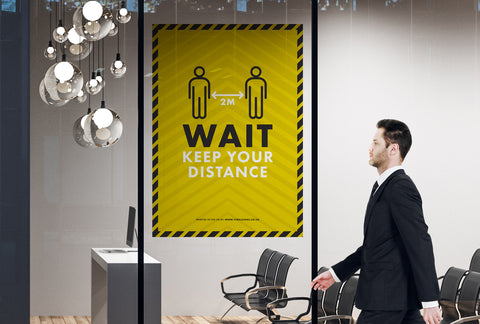 Posters - Wait Keep Your Distance