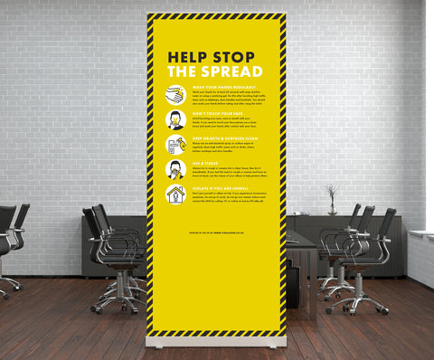 Pop Up Stands - Help Stop the Spread