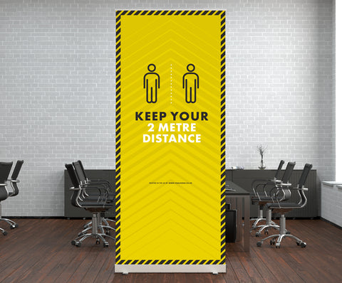 Pop Up Stands - Keep Your 2m Distance 2