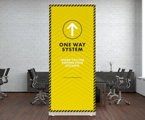 Pop Up Stands - One Way System
