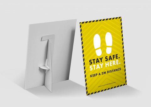 Strut Cards - Stay Safe Stay Here