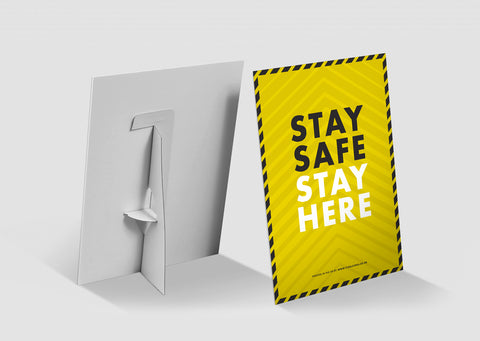Strut Cards - Stay Safe Stay Here 2