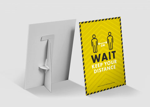 Strut Cards - Wait Keep Your Distance