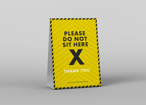 Tent Cards - Please Do Not Sit Here 2
