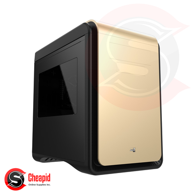 Aerocool Dead Silence Cube Window Gold Casing