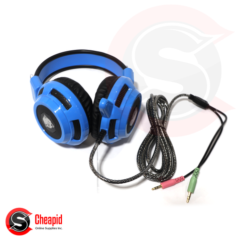 Badwolf V8 Gaming Blue Headset