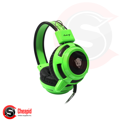 Badwolf V8 Gaming Green Headset