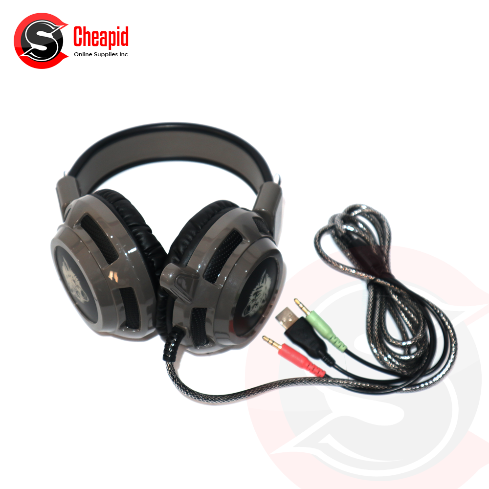 Badwolf V8 Gaming Grey Headset