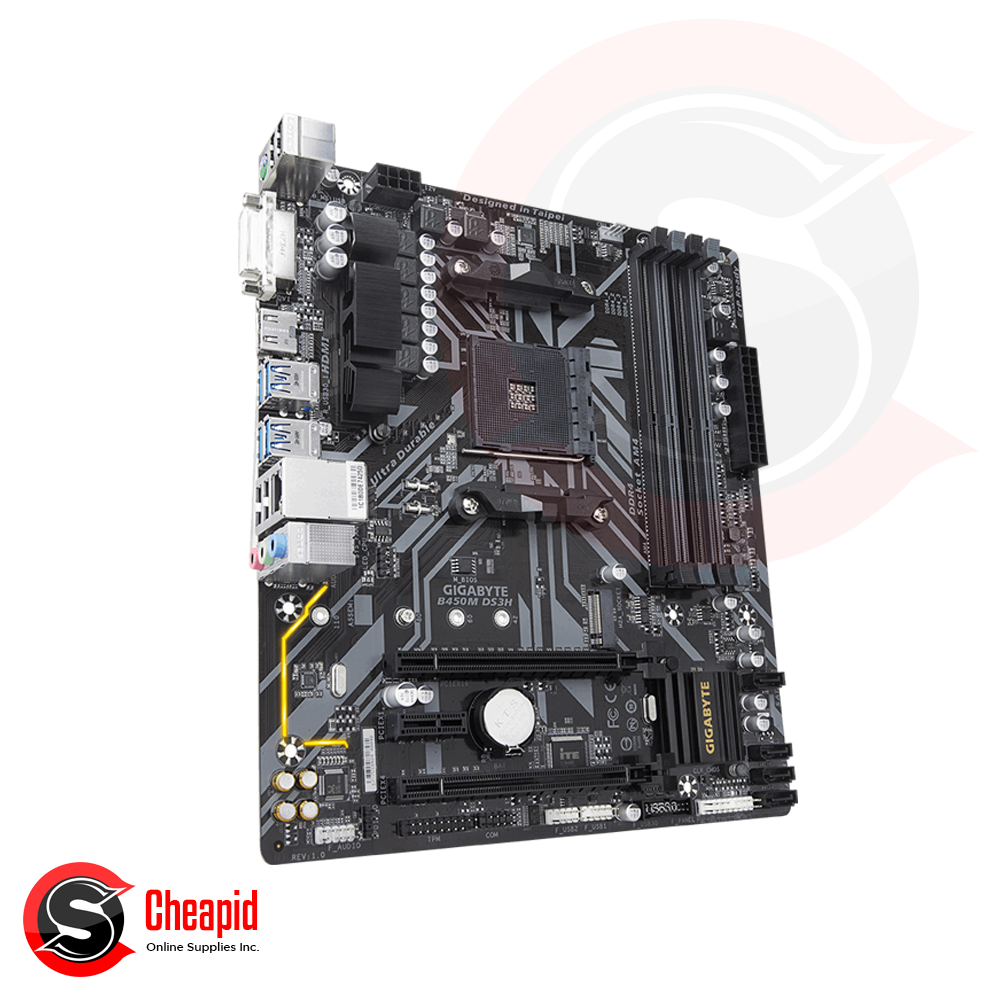 Gigabyte B450M DS3H Socket AM4 DDR4 Motherboard