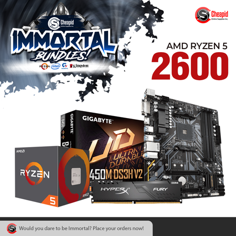 Immortal Bundle - AMD Ryzen 5 2600