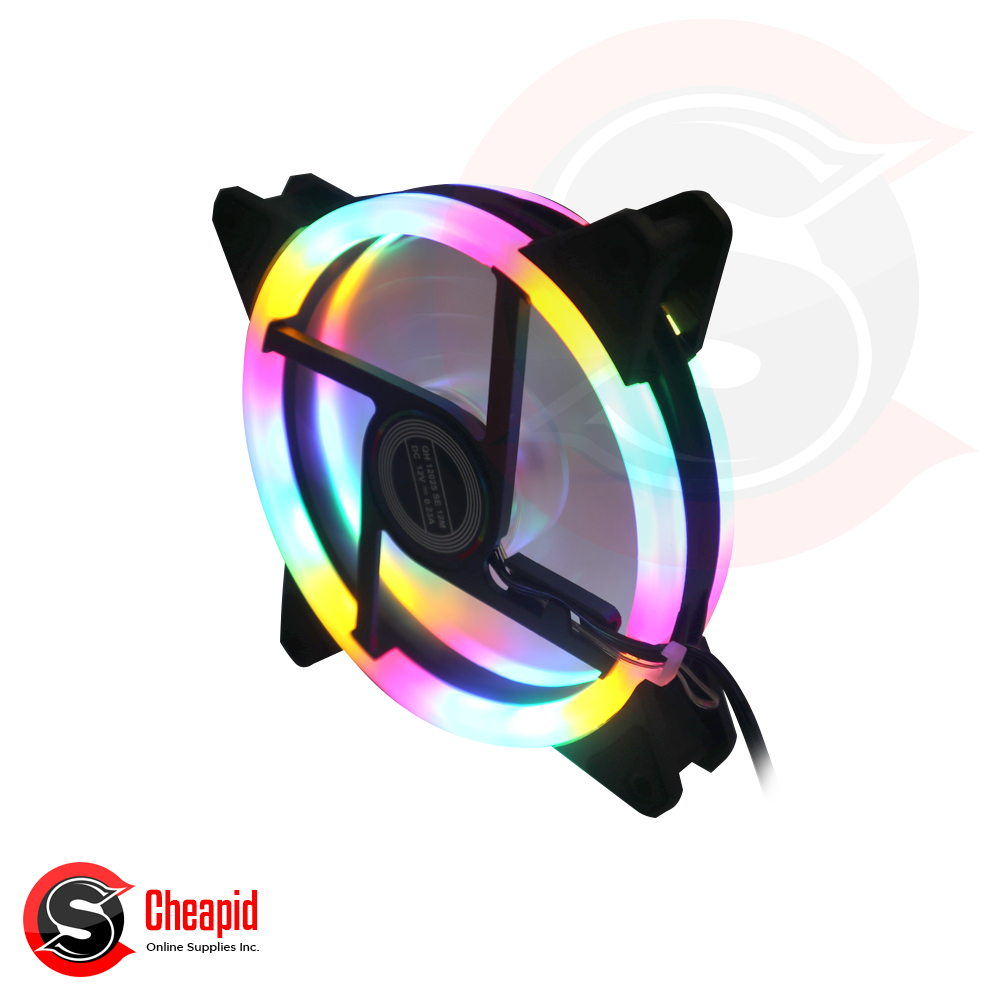 Intelligent Dualhalo EF-Dual 120mm 5-Colors LED Fan