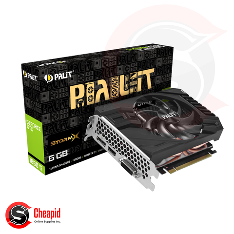 Palit GeForce GTX 1660 Ti StormX 6GB GDDR6 192bit Video Card (NE6166T018J9-161F)