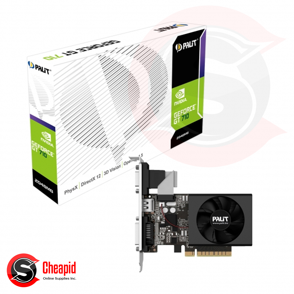 Palit GeForce GT 710 2GB DDR3 64bit Video Card (NEAT7100HD46-2080F)
