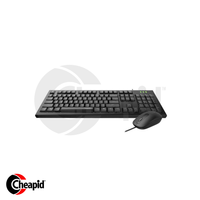 Rapoo X120 Pro (NK1800+N2200) Wired Black USB Keyboard & Mouse
