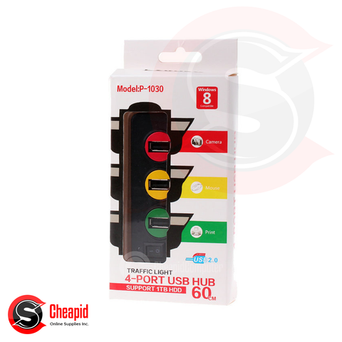 USB Punada Traffic Light 4 Ports Hub
